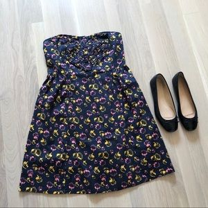 UO Kimchi Blue Floral Strapless Dress